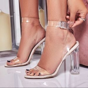 Ego official clear strappy heels